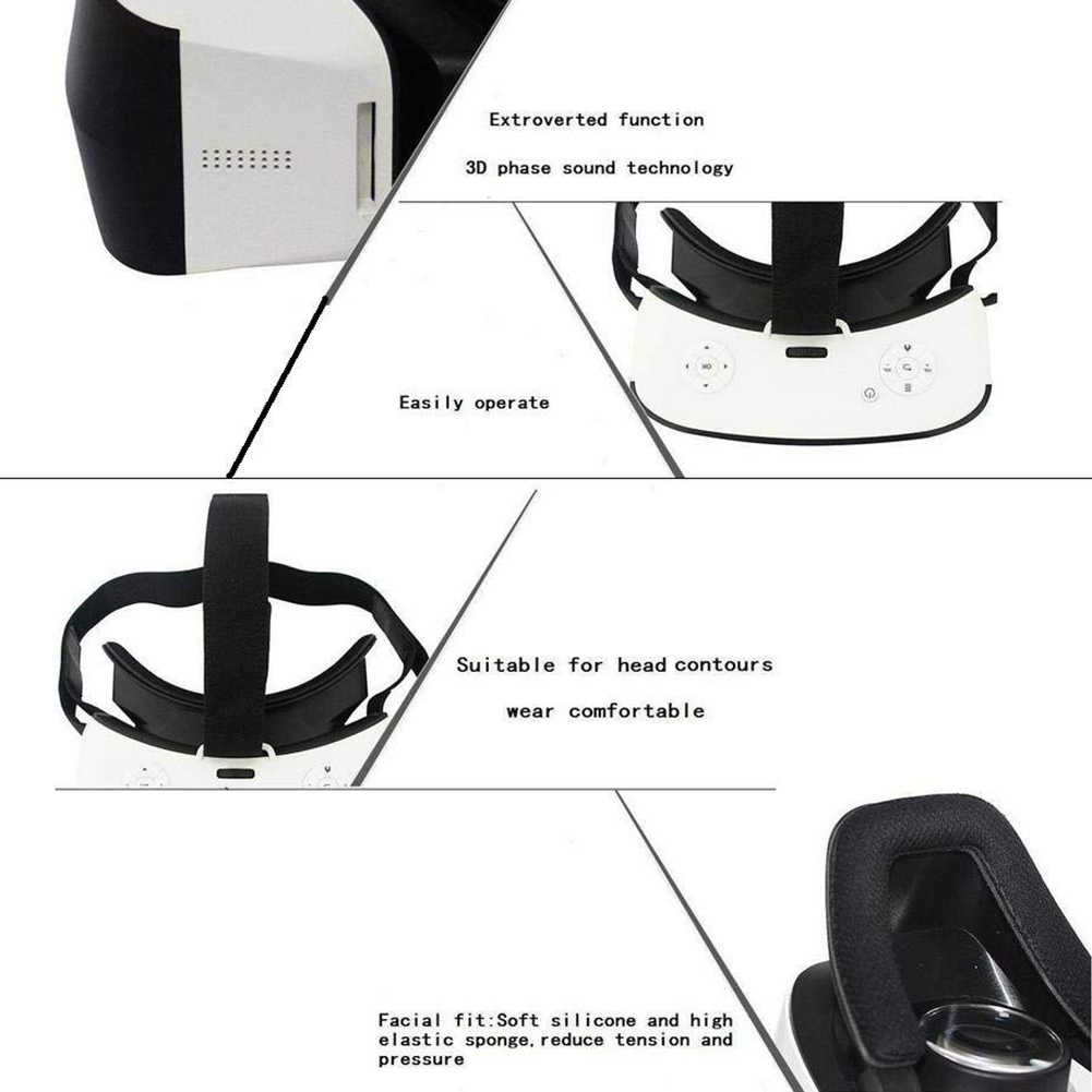 V12 VR All In One Headset Virtual 3D Glasses GEO Gyroscope 5 5 inch H8 CPU  360 Degrees & 720 Degrees