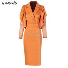 Ynqnfs m41 шикарные атласные платья накидка с оборками длинным