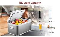 18L автомобильный холодильник морозильник DC 24 V 12 V Портативный холодиник для автомобиля компрессор AC 100 240 V для автомобиля дома путешествия К