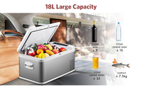18L Car Refrigerator Freezer Cooler DC 24V 12V Portable Car Fridge Compressor AC 100 240V for Car Home Traveling Camping