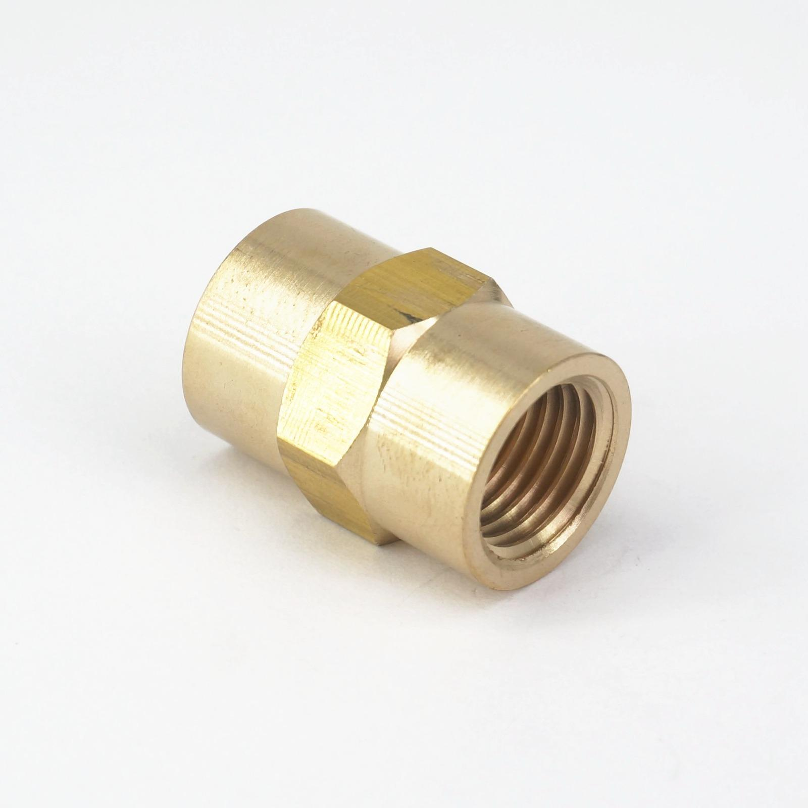 1# NPT Adapter,5pcs Brass Reducing Pipe Fitting NPT Adapter Oil Pipe Connector
