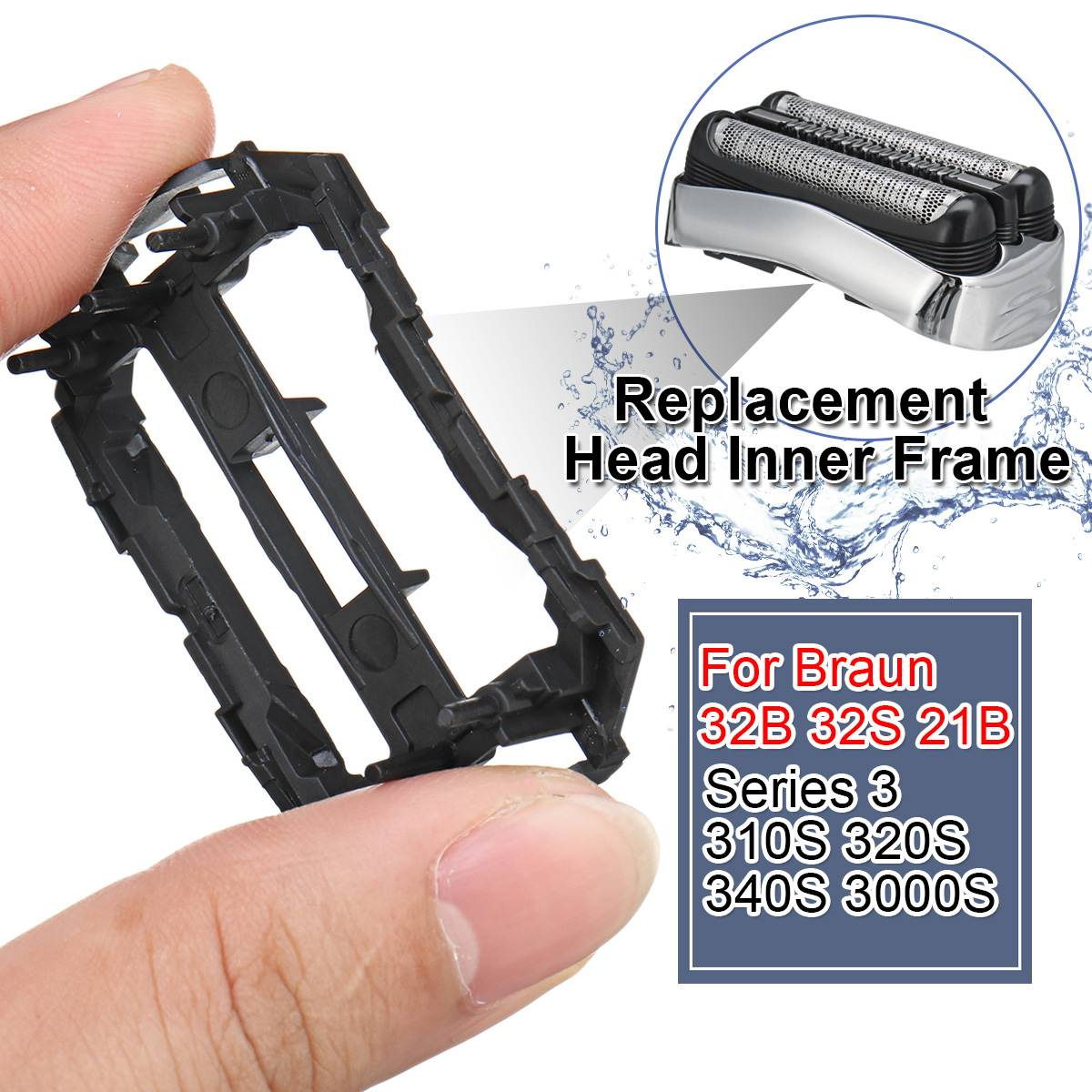 Replacement Shaver Head Inner Frame For Braun 32B 32S 21B Series 3 310S 320S 340S 3000S Electric Shaver Razor Parts