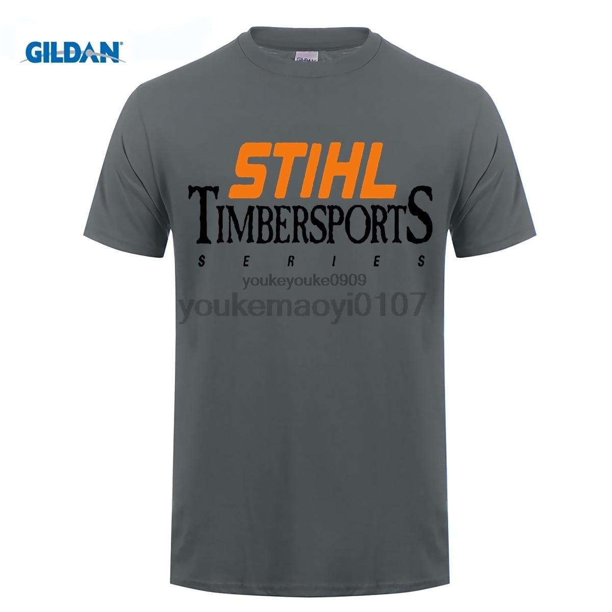 GILDAN Brand T Shirt Man Cotton Mens Stihl Timbersports Series Logo T-shirts