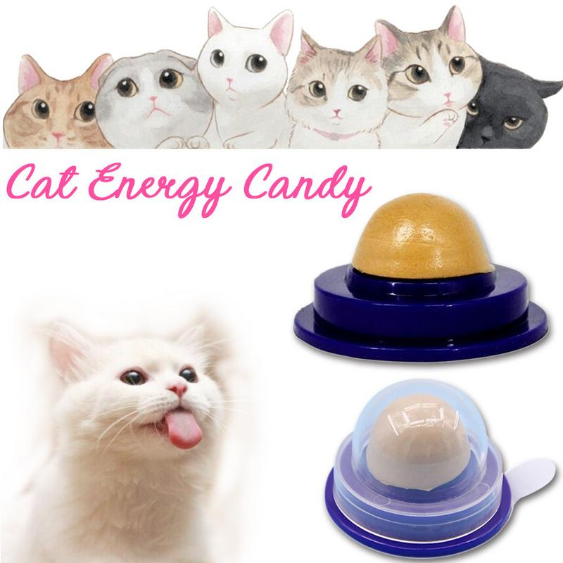 2018 New Cat Vitamin Mint Rounded Toy Cat Solid Energy Candy Pet Toy Ball Snack Nontoxic Kitten Licking Snack image