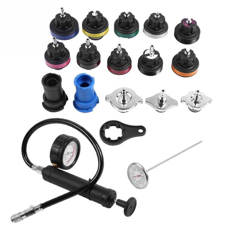 1set 18pcs Water Tank Leak Detector Car Cooling System Tester Kit Cooling System Tester Universal Car