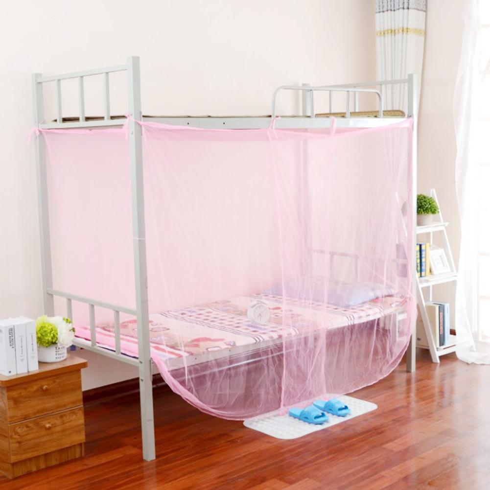 4 Corner Post Bed Canopy Mosquito Net for Student Dormitory White Mosquito Netting Twin Full Queen Size Netting Full Mosquito Net