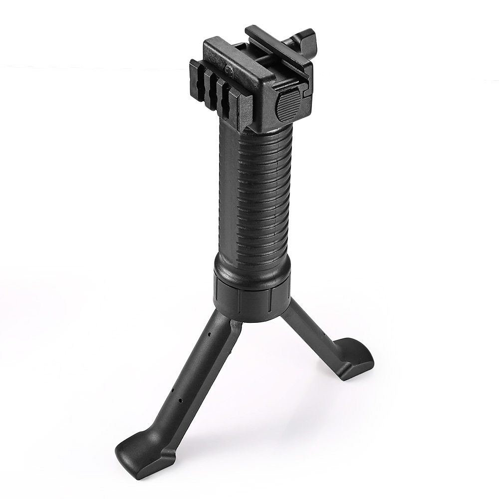 Tactical Foldable Vertical Retractable Bipod Foregrip for Picatinny Weaver Rail