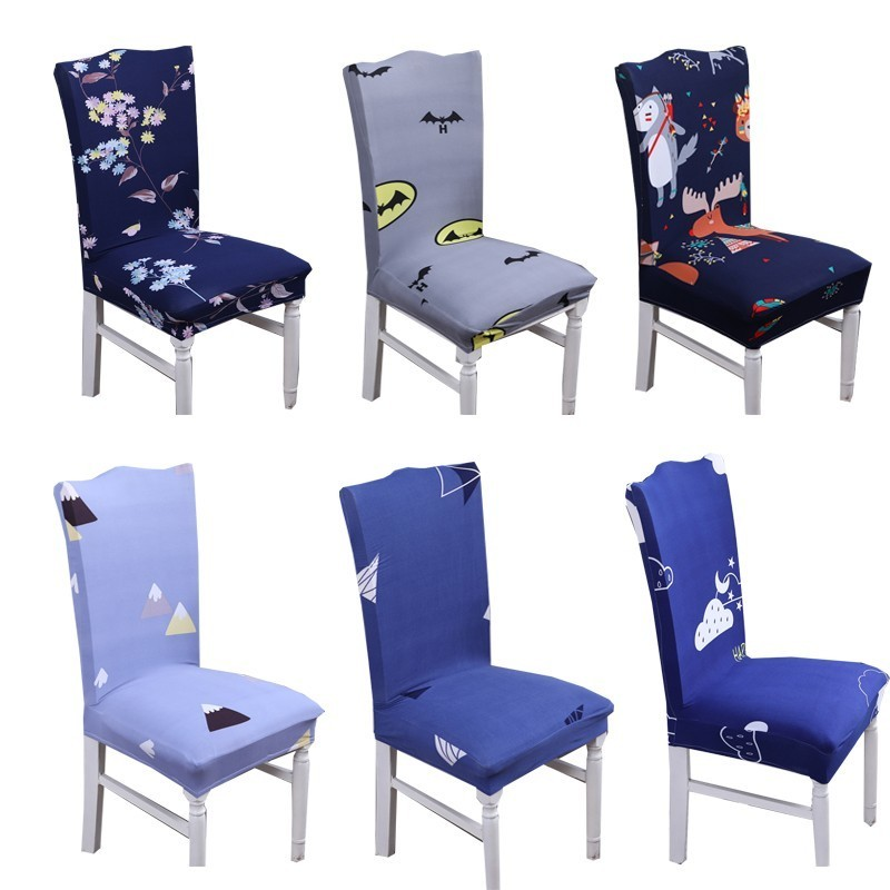 Spandex Elastic Stretch Slipcovers Chair Cover Kitchen Dining Room Slipcover Seat Cover With Backrest Removable Seat Case