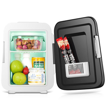 4L Car Mini Fridge Small Household Renting Cooling Student Bedroom Dormitory Mask Cosmetics Refrigerator box home dual heating and cooling box car refrigerator mini fridge household refrigeration refrigerated ice 7 5l