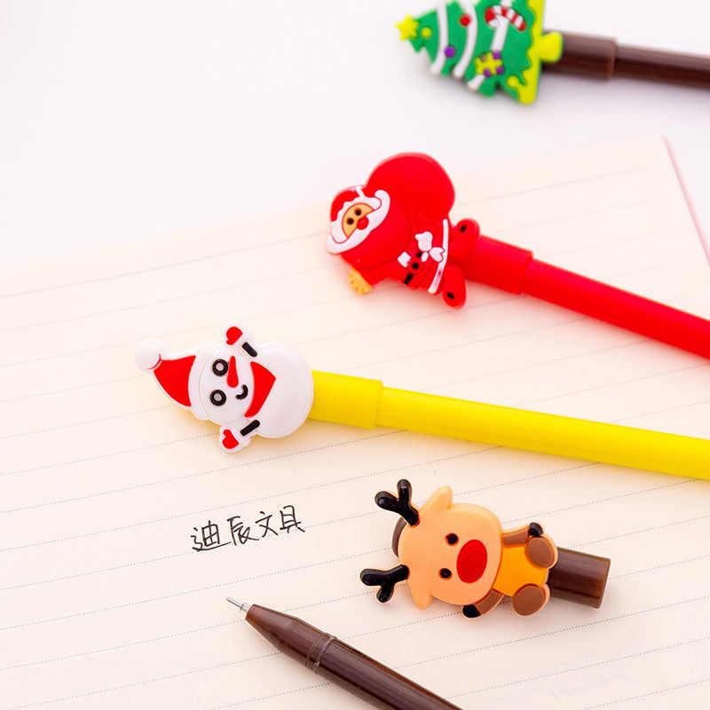 חמוד קריקטורה חג המולד סדרת ג 'ל עט Creative טרי סטודנטים משרד עט לכתיבה מכתבים