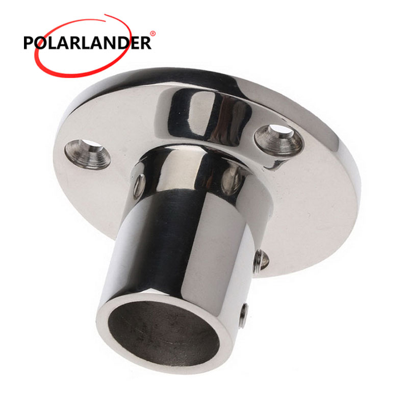 """0.98""""(25mm) Tube Hand Rail Fitting 2018 Boat Parts & Accessories 90 Degree Marine Boat Base Hardware Round Stainless Steel"""