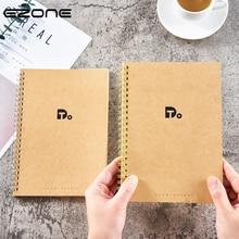 "Купить с кэшбэком EZONE A4 Notebook Kraft Paper Cover ""Do""Work Efficiency Manual Plan Book Coil Loose-Leaf Notebook Office School Stationery"