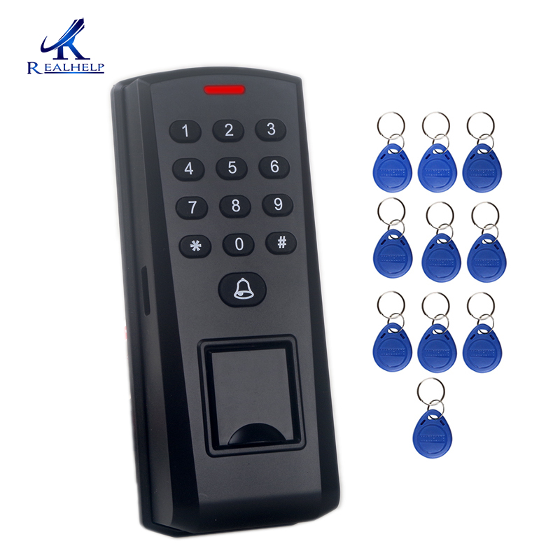 Dustproof Fingerprint Sensor Reader Door Access Control System Biometric Proximity Finger Card Reader 125KHZ Wiegand 26 Output