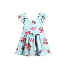 0 para 2 T Meninas Recém-nascidas Do Bebê Cover-Ups Flor Backless Bow vestido de verão Do Partido Vestidos del desfile de la princesa