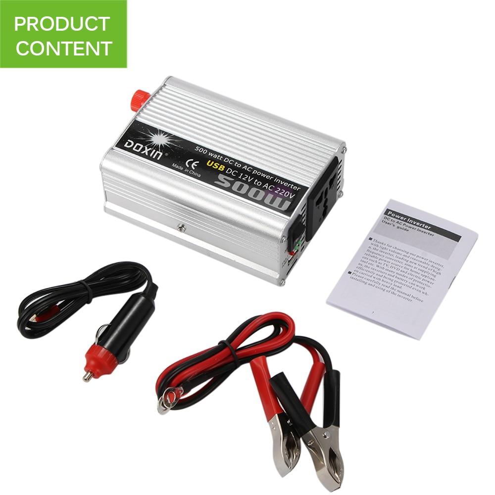 50Hz 500W Car Inverter 12v 220v Auto Inverter 12 220 Cigarette Lighter Plug Power Converter Inverter
