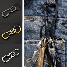Key Chain Creative Stainless Steel Climbing Clip Hook Buckle Sport Outdoor High Quality Metal Silver Gold