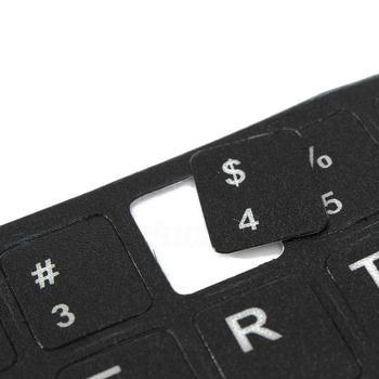 Inglés ruso japonés tailandés letras ordenador portátil teclado diseño pegatinas buena calidad