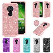 e08e4b06fc1 Tobebest Phone Cases for Motorola Moto Play XT1922 Glitter Crystal Sequins  Silicone