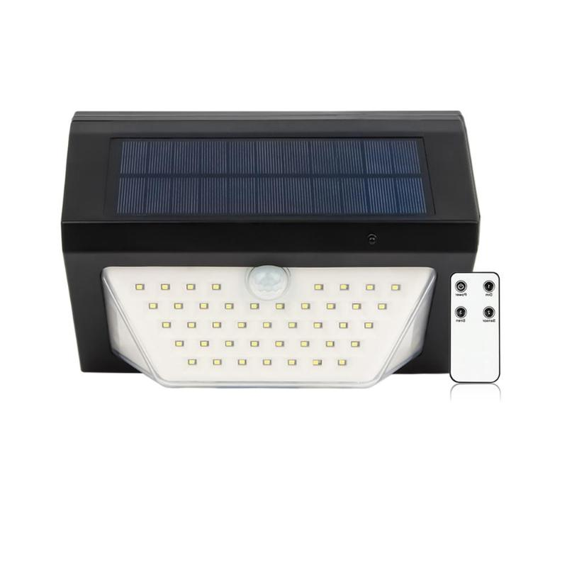 80 LED Solar Light 3 Modes Rechargeable Wireless Remote Control Solar Light Alarm Lamps Solar Garden Wall Light Lamp