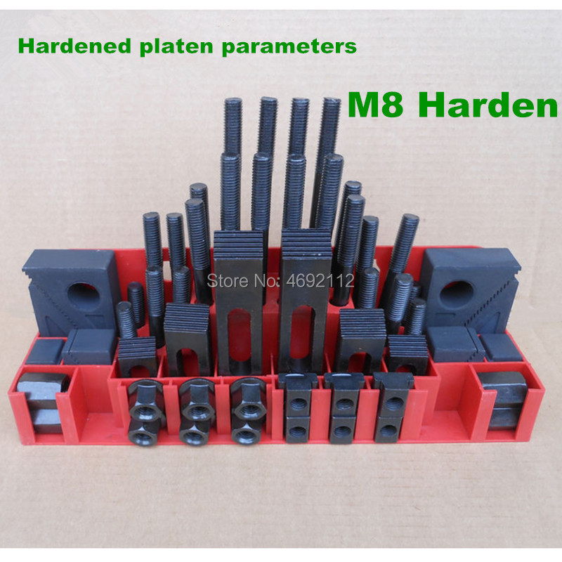 Hardening quality Metex milling machine clamping set M8 M10 58pcs mill clamp kit vice clamping tool