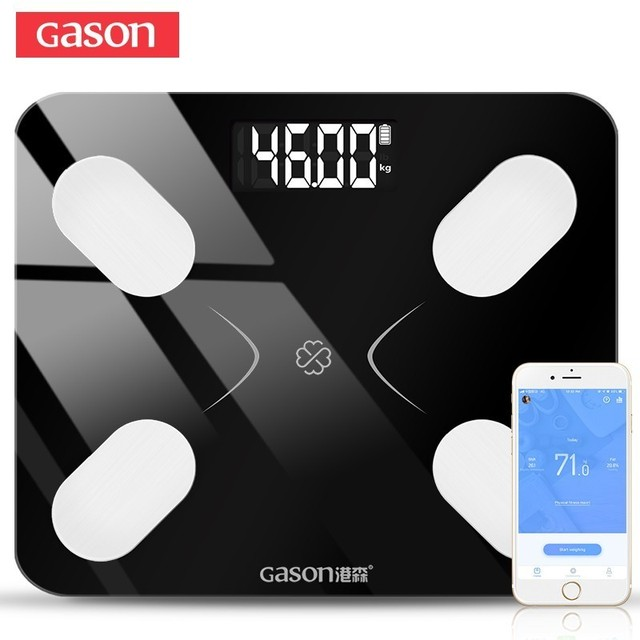 Gason s3 escala de gordura corporal piso científico inteligente eletrônico lcd digital peso banheiro equilíbrio bluetooth app android ou ios