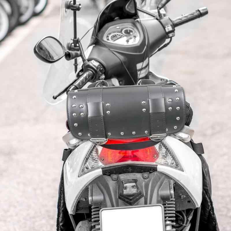 ヴィンテージモーターサイクル Pu レザーバイクサイドツールテールバッグ荷物バッグ & 荷物高品質新