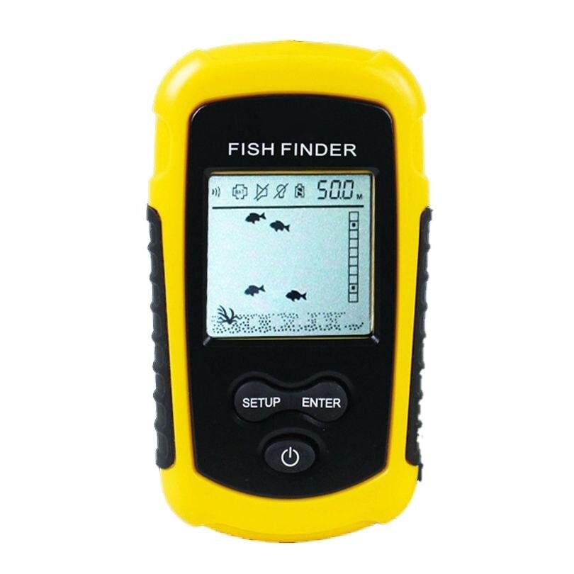 FF1108-1 Portable Sonar alarme détecteur de poisson écho sondeur 0.7-100 M capteur de profondeur détecteur # B3 jaune