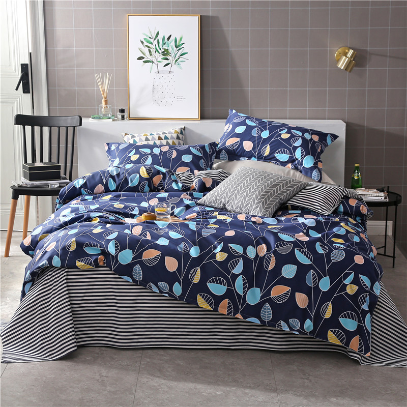 1 PCS Duvet Cover Printing Single Double Size Quilt Cover Skin Care Cotton Bedclothes 160x210cm/180x220cm/200x230cm Size 5