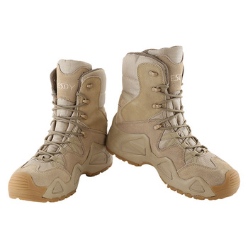 Outdoor Sports High Tops Tactical Boots Spring Autumn Men Women Military Training Climbing Camping Hunting Antiskid Hiking Shoes 6