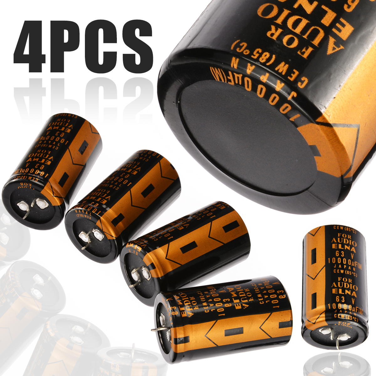 4PCs Replacement Electrolytic Capacitor For ELNA AUDIO 63V 10000UF 30*50mm High Quality