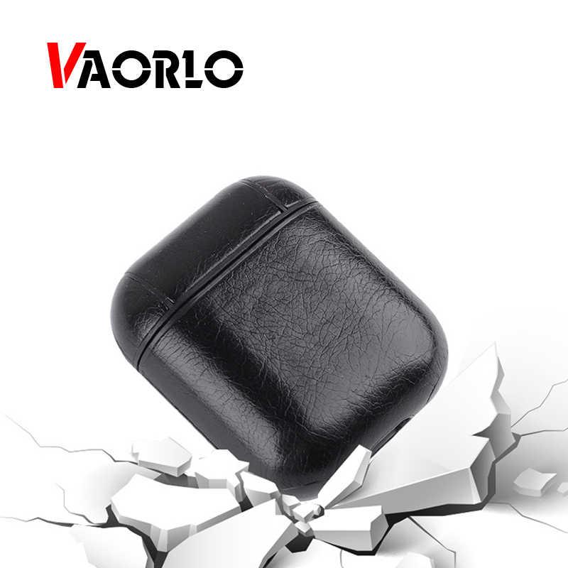 Dla Airpods skórzane etui słuchawki Box uchwyt ochronny uchwyt do Apple Airpods bezprzewodowy pokrywa akcesoria dla i10 słuchawki TWS i20 i30 i60