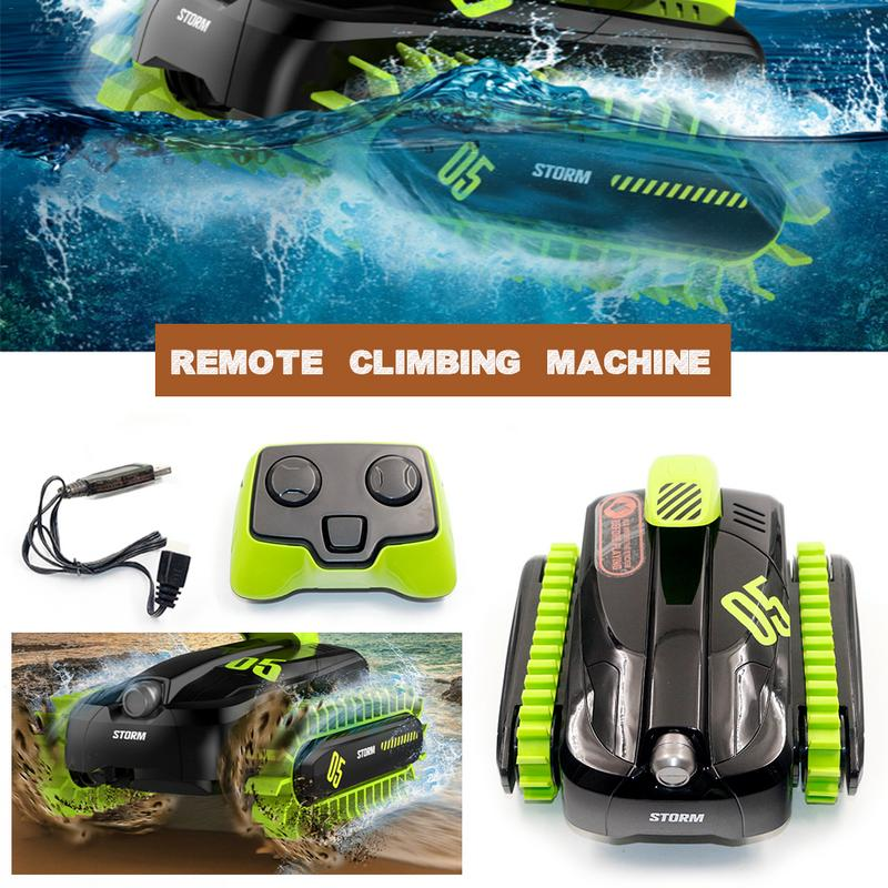 RC Car Toy Tank Amphibious Car  2.4G Water And  Land Climbing Deformation Vehicle