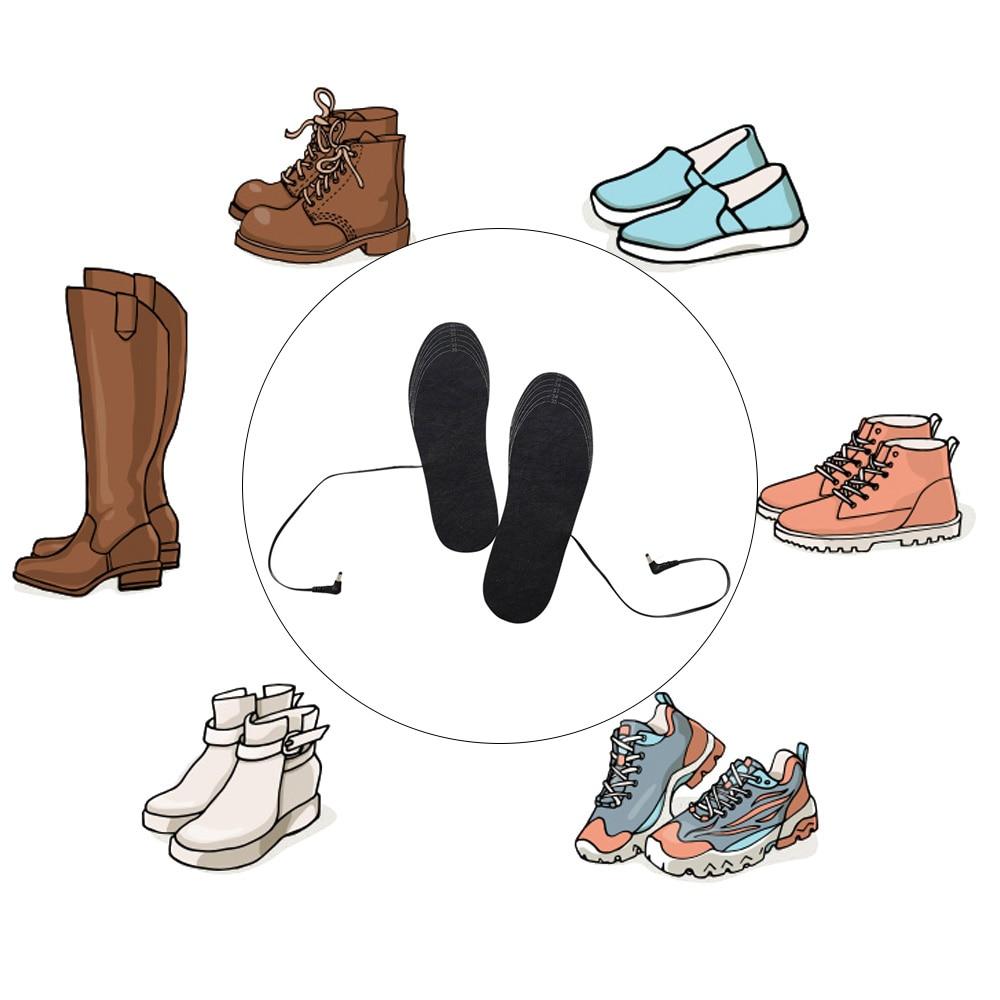 EVA стельки с подогревом отопление домашнего интерьера прочный нагреватель стельки лыжный носок одежда масштабируемый Электрический ног с подогревом зимой