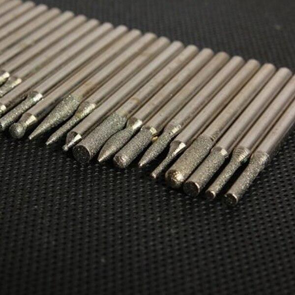 3 mm Burr Bits Drill Glass Metal for Dremel Grinding Rotary Tool,90Pcs 1//8-inch