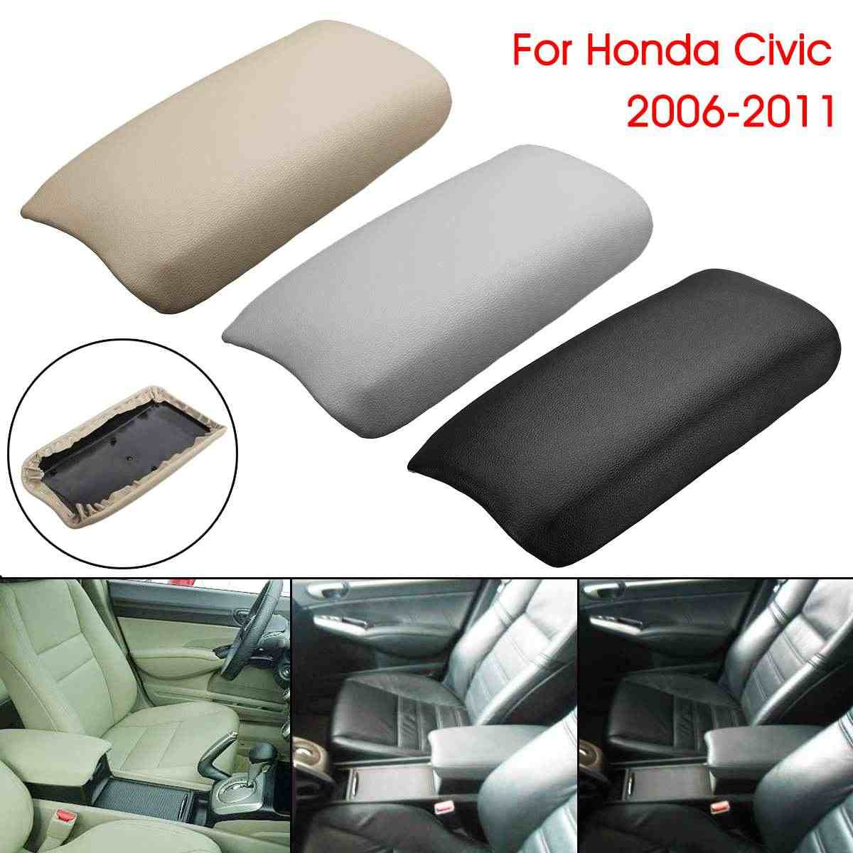 Car PU Leather Center Console Armrest Cover Arm Rest Box Lid Covers For Honda/Civic 2006-2011