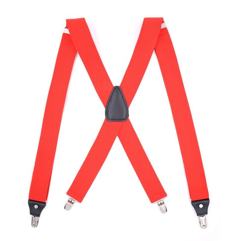 2019 Explosion Models Elastic 4 Clips Adjustable Men's X-type Good Clip Adult Strap 10 Color Hanging Strap Men And Women