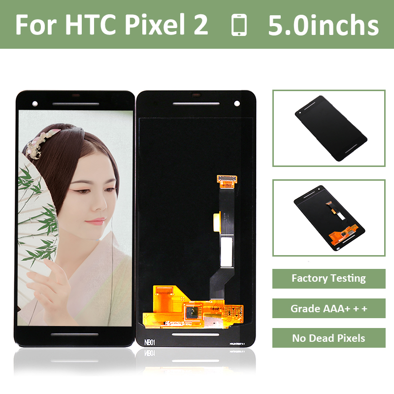 10pcs/lot Lfor Htc Google Pixel 2 Lcd Display Screen Touch Panel Digitizer Assembly For Htc Google Pixel 2 Screen Lcd Display Cellphones & Telecommunications