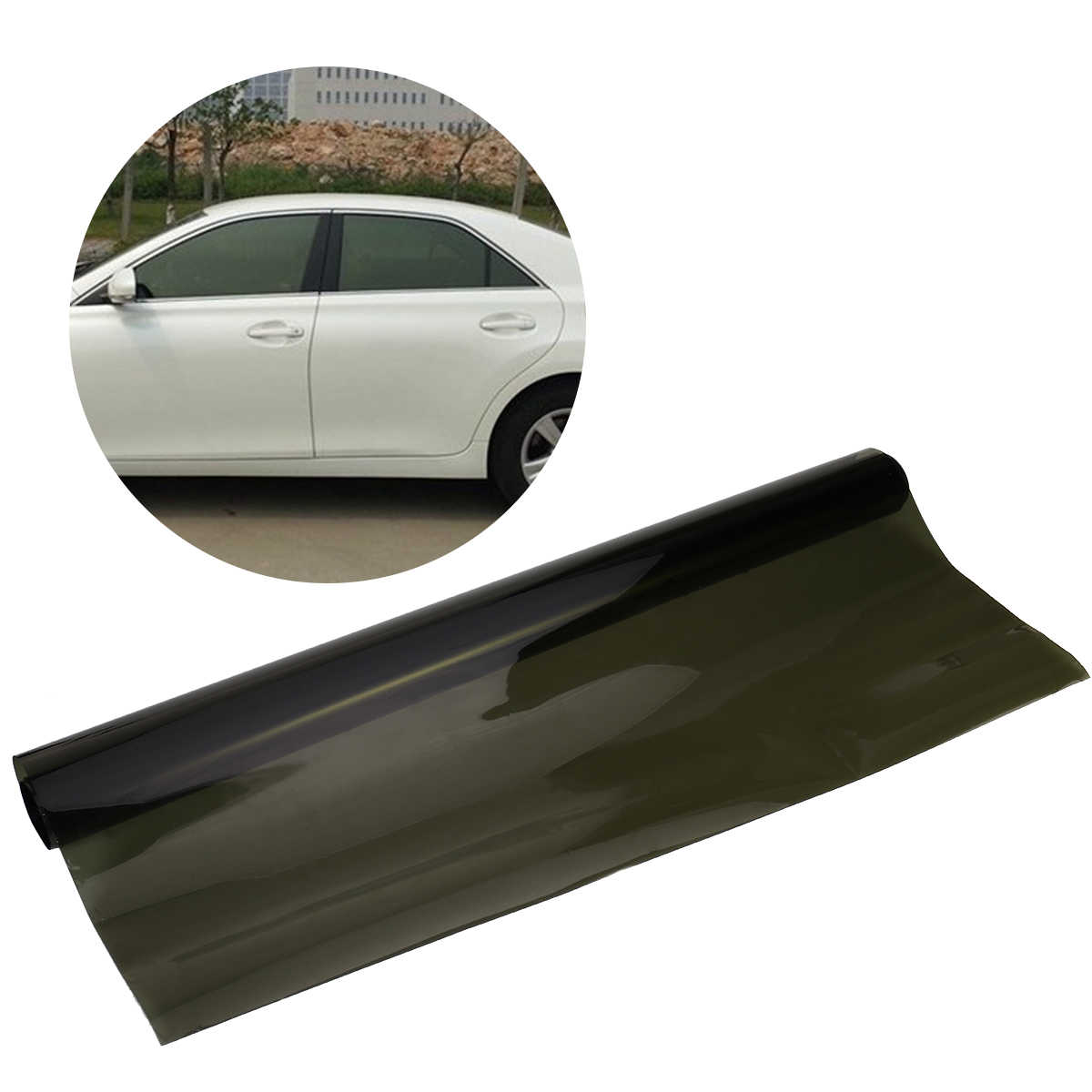 75cm × 6M Car Van Window Tint Film Universal Fit For Privacy & Sun Glare Heat Reduction Tinting Glass Sticker Window Sun Shade