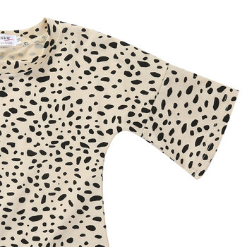 Pudcoco Girl T-Shirt 0-5Y  Kid Baby Girls Leopard Print 3/4 Sleeve Top T-Shirt Party Dress Sundress