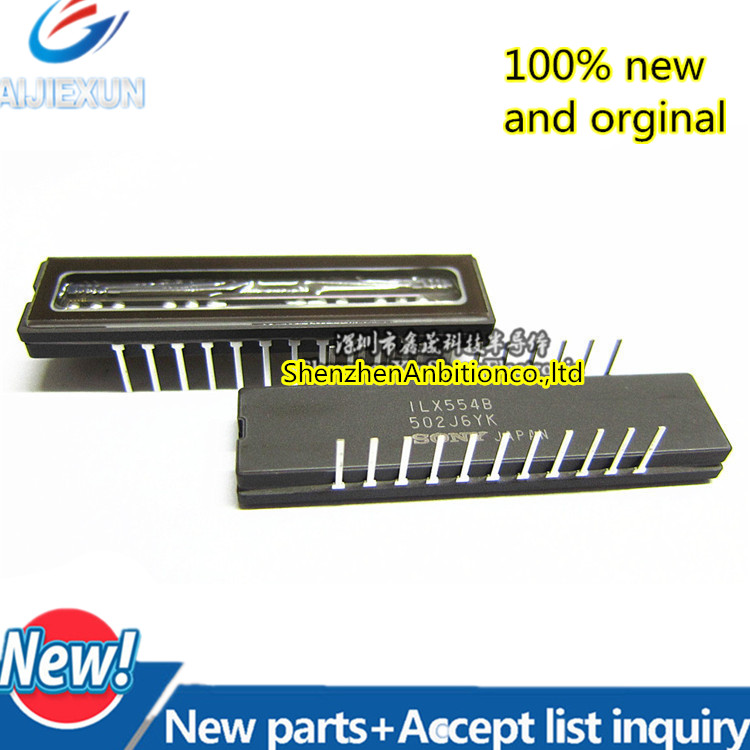 1pcs new and orginal ILX554B ILX554A CDIP-22 SONY2048-pixel CCD Linear Sensor (B/W) for Single 5V Power Supply Bar-code in stock upd8821cz d8821cz cdip 40 color ccd linear image sensor