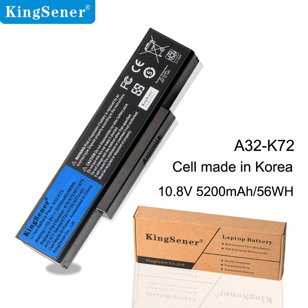 Kingsener Laptop Battery A32-K72 A32-N71 For ASUS K72DR K72 K72D K72F K72JR K73 K73SV K73S K73E N73SV X77J X77JA N73F N73G N73J