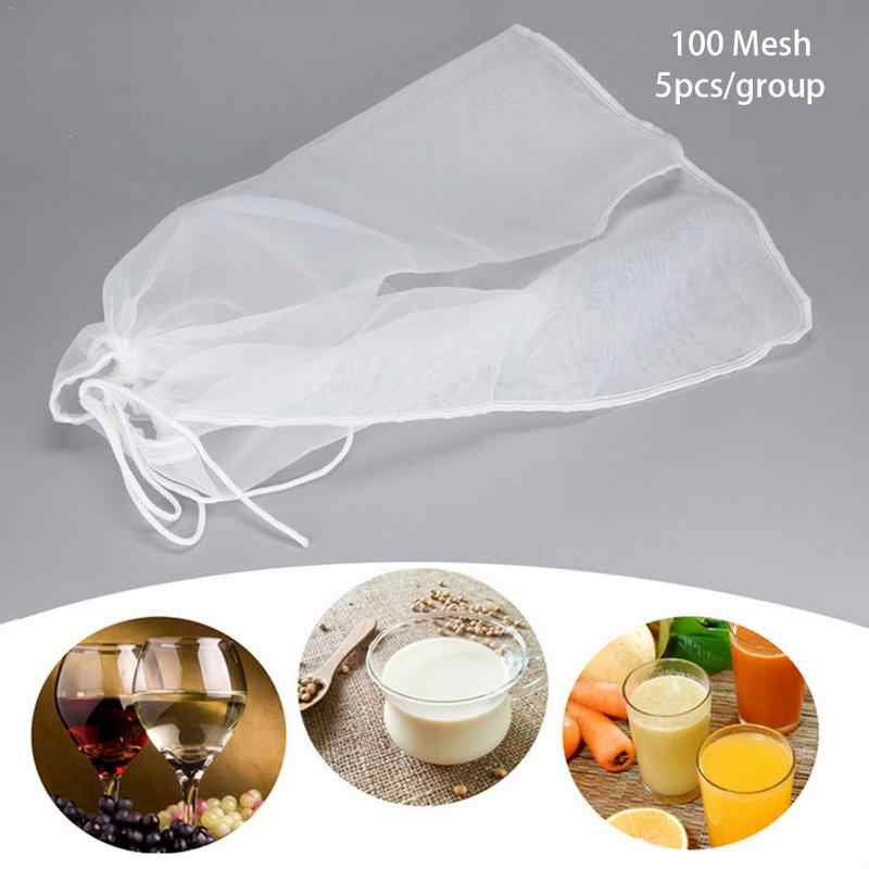 3 Sizes Food Grade Coffee Beer Wine Home Brewing Filter Bag Suitable for Batch Homemade Filter Bag Bucket Customized Home Use
