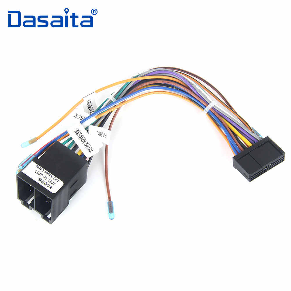 dasaita car radio stereo power cable female iso connector wire harness adapter for vw polo audi [ 1000 x 1000 Pixel ]
