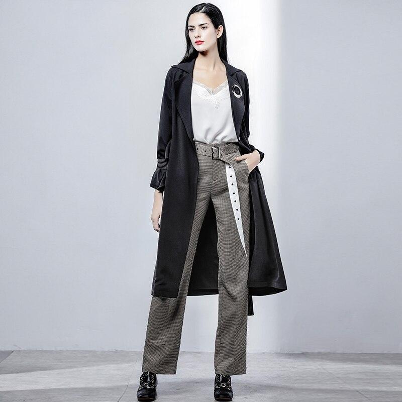 2019 Gray Otoño Mujeres Primavera Carrera Ab243 Ropa Trabajo Mujer Fajas Casuales Pata Slim Verano Las Pantalones De Gallo Con UwUArE