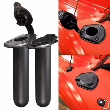 2 pcs Nylon Fishing Tackle Accessory tool Fishing Rod rack Holder Tackle with Cap Cover Gasket for Kayak Boat Canoe