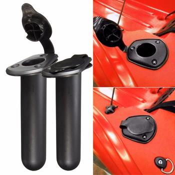 2 sztuk Nylon akcesoria wędkarskie uchwyt na wędkę uchwyt Tackle z Cap uszczelka pokrywy dla łódź kajak kajak tanie i dobre opinie
