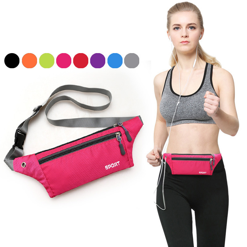 New Style 2019 Summer Nylon Waterproof Running Women 39 s Waist Packs Mobile Phone for Purse General Gym Small Men Sports Bag in Waist Packs from Luggage amp Bags