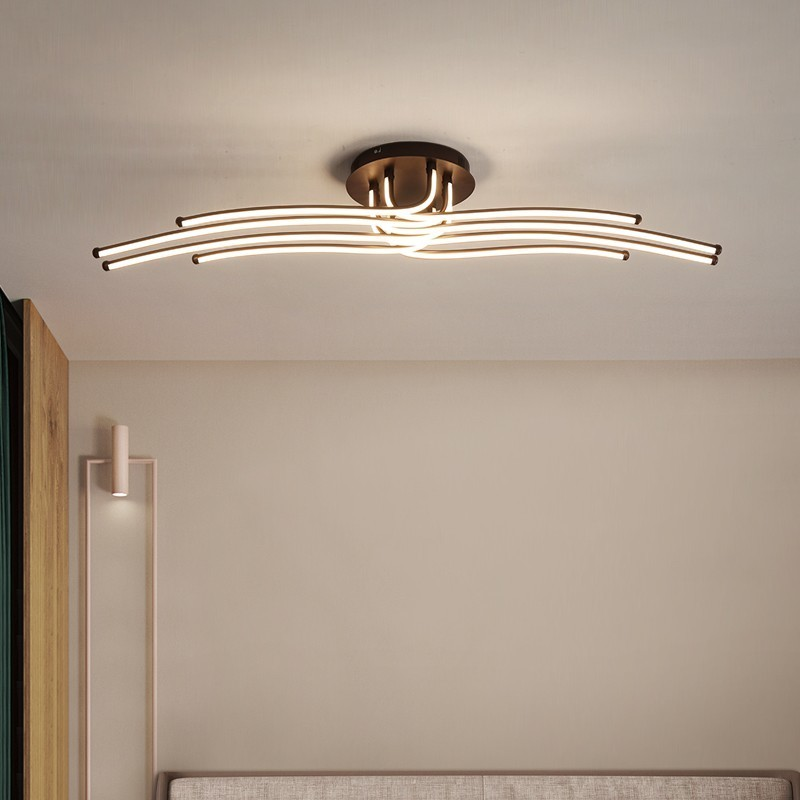 Image 3 - Modern Led Chandelier Aluminum Lights For Living Room Bedroom Home Ceiling Fixtures Luminaire Lustres Remote Control Decoration-in Chandeliers from Lights & Lighting