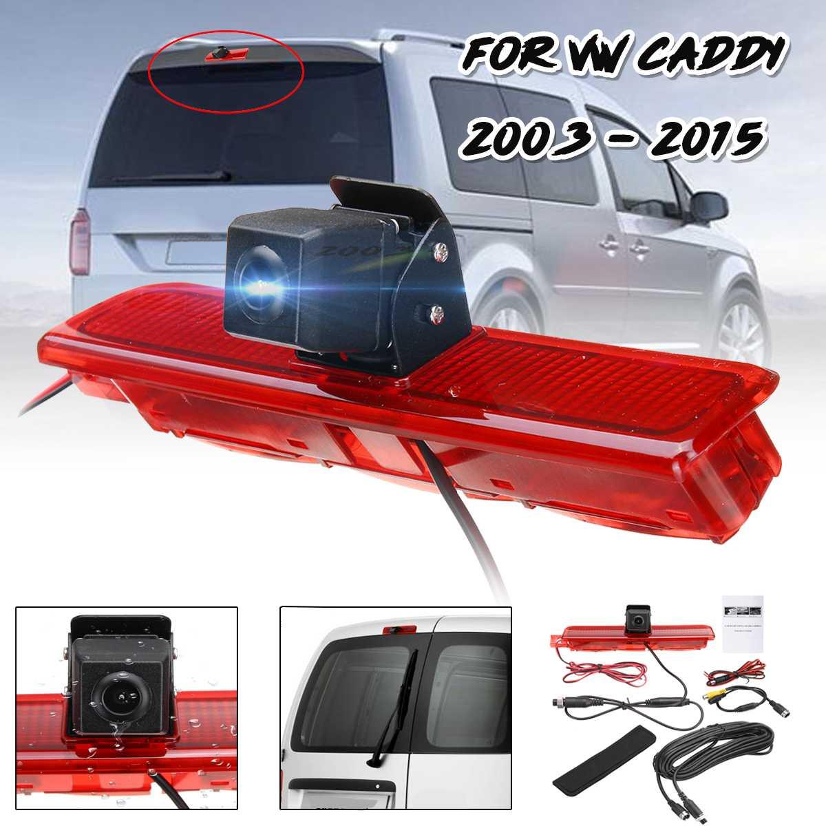 Feu de frein de secours caméra de recul arrière CMOS pour Volkswagen/VW Caddy Van 2003-2015 caméra de recul de vue arrière de voiture