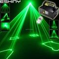 ESHINY Grün 100mW Laser Linien Scanner Strahl Remote DMX512 Bühne Licht DJ Dance Bar Weihnachten Home Party Disco Beleuchtung zeigen B112D3